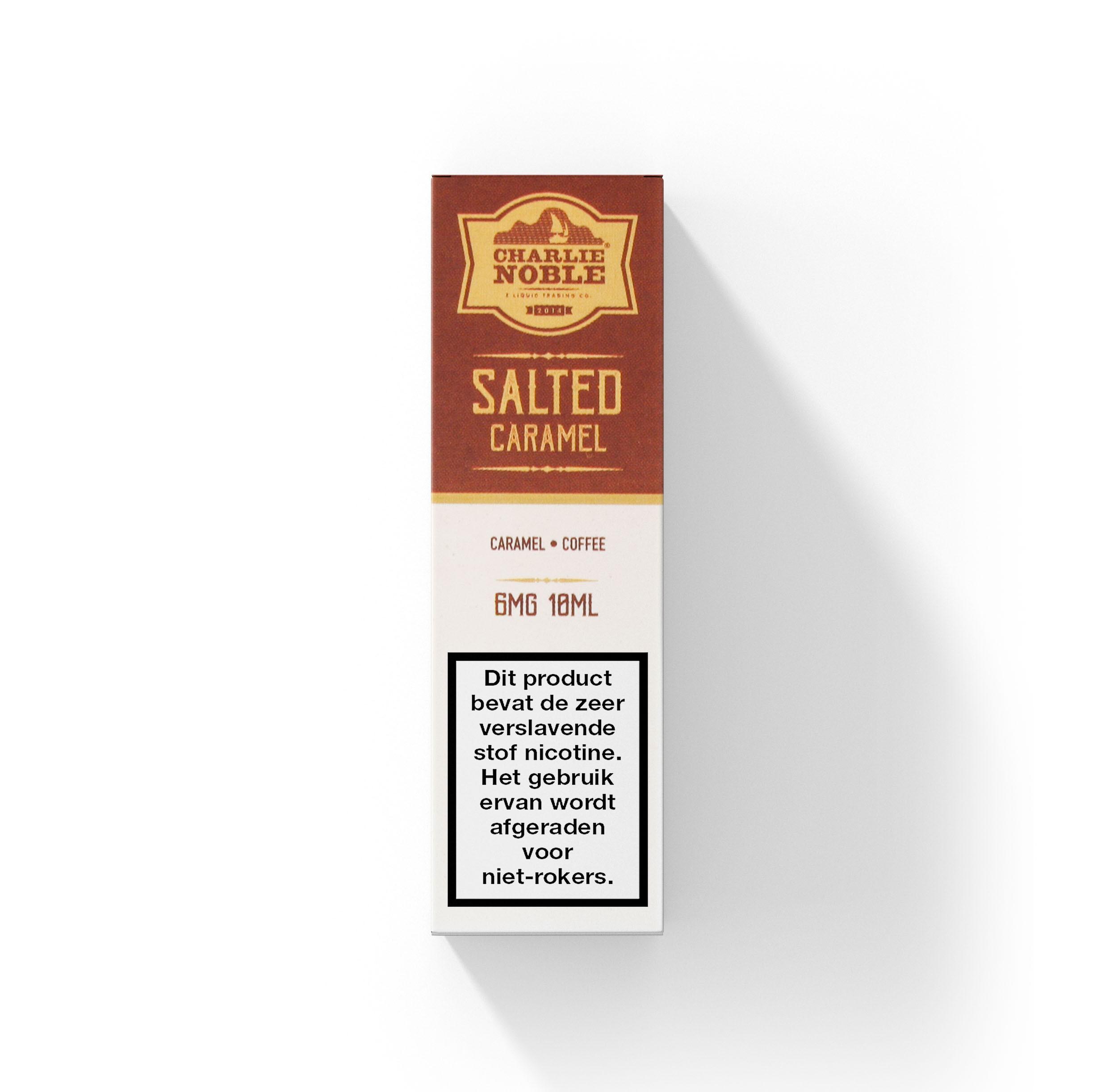 Charlie Noble Salted Caramel smaakt naar karamel met een vleugje zeezout. Deze High VG e-liquid komt in 10ml flesjes met verschillende nicotine sterktes.