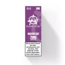 Purple Nic-Salt van Anarchist E-liquids smaakt naar druiven kauwgom. U kunt deze 50PG/50VG e-liquid in 10ml flesjes bestellen. U kunt kiezen uit 10- en 20mg/ml Nicotine Salts.