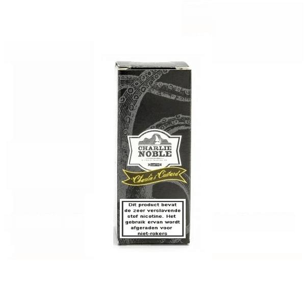 Charlie Noble Charlie's Custard is een custard cake met vanille vulling. Deze High VG e-liquid komt in 10ml flesjes met verschillende nicotine sterktes.