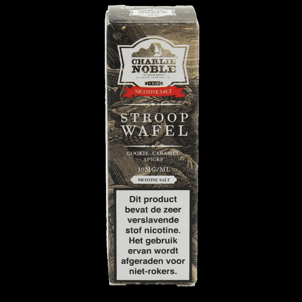 Charlie Noble Stroopwafel Nic Salt smaakt naar de bekende wafel. Deze 50/50 e-liquid komt in 10ml flesjes met verschillende nicotine salt sterktes.