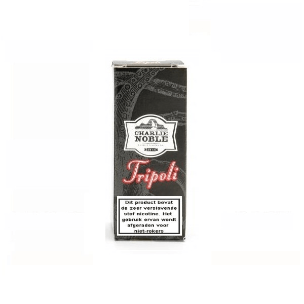 Charlie Noble Tripoli is een mix van tabak, vijgen, amandelen. Deze High VG e-liquid met nicotine komt in 10ml flesjes met verschillende sterktes nicotine.