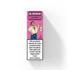 El Patron La Puta heeft de frisse smaak van zwarte bessen en munt. Deze Nederlandse e-liquid is verkrijgbaar in 10ml flesjes met verschillende nicotine sterktes.