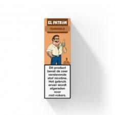 El Patron Tranquilo smaakt naar gember en cactus. Deze Nederlandse e-liquid is verkrijgbaar in 10ml flesjes met verschillende nicotine sterktes.