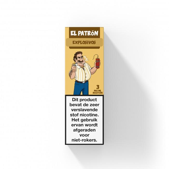 El Patron Explosivos is een kauwgom met de smaak van perzik, aardbeien en limoen. Deze Nederlandse e-liquid is verkrijgbaar in 10ml flesjes met verschillende nicotine sterktes.