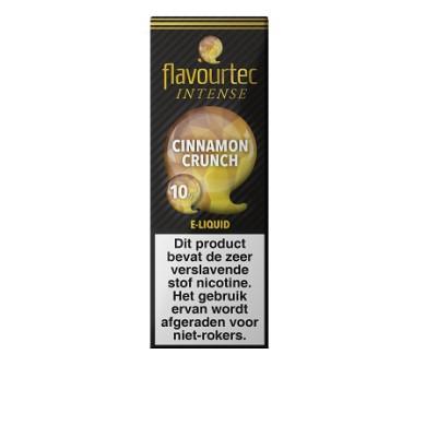 Flavourtec Intense Cinnamon Crunch is een mix van ontbijtgranen, kaneel en melk. Deze 50%PG/50%VG e-liquid wordt geproduceerd in Polen.