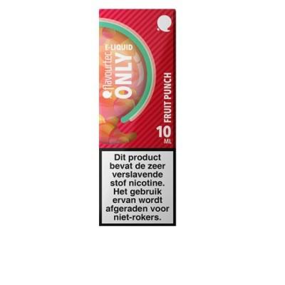 Flavourtec Only Fruit Punch is een mix vanmango, perzik, watermeloen, passievrucht en menthol. Deze 50%PG/50%VG e-liquid wordt geproduceerd in Polen.