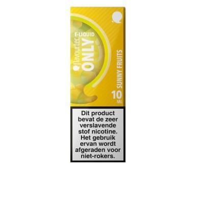Flavourtec Only Sunny Fruits is een mix van passievrucht, kiwi en ananas. Deze 50%PG/50%VG e-liquid wordt geproduceerd in Polen.