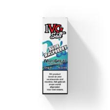 IVG Blue Raspberry is een van blauwe bessen en frambozen met een toevoeging van menthol.Deze e-liquid uit het Verenigd Koninkrijk heeft een 50%PG/50%VG verhouding. Verkrijgbaar in 10ml flesjes met 20mg/ml Nicotine Salts.