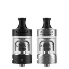 De Innokin ARES 2 MTL RTA is een 2ml Mouth to Lung (MTL) verdamper. Er worden twee voorgedraaide coils, twee handige coil jigs, extra mondstuk en een extra glaasje bijgeleverd.