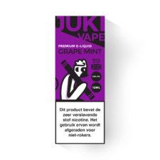 Juki Vape Grape Mint is een mix van zoete druiven en frisse mint. Deze smaak is verkrijgbaar met 3mg/ml nicotine en 30%PG/70%VG in 10ml flesjes.