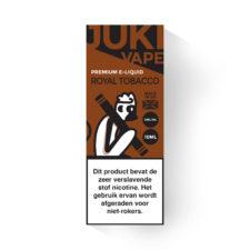 Juki Vape Royal Tobacco is een klassieke tabak smaak. Deze e-liquid is verkrijgbaar met 3mg/ml nicotine en 30%PG/70%VG in 10ml flesjes.