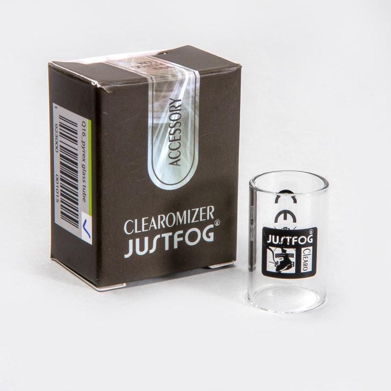 Glas voor de JustFog Q16 clearomizer of verdamper. De afmetingen van dit glaasje zijn 16mm diameter en 25mm hoogte. Niet geschikt voor de 14 of Q16 Pro serie.