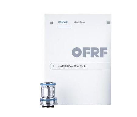 De coils coils voor de OFRF NexMESH Sub Ohm Tank zijn te bestellen met weerstand van 0.15 (Mesh) en 0.2ohm (RVS). De coils zijn verpakt per 2 stuks.