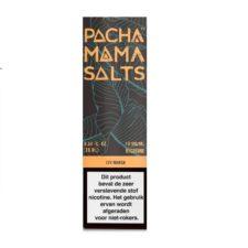 Pachamama Salts Icy Mango smaakt naar mango en munt. Deze Amerikaanse e-liquid heeft een 45%PG/55%VG verhouding. Hij wordt verkocht in 10ml flesjes. U kunt kiezen uit 10mg/ml en 20mg/ml Nicotine Salts.
