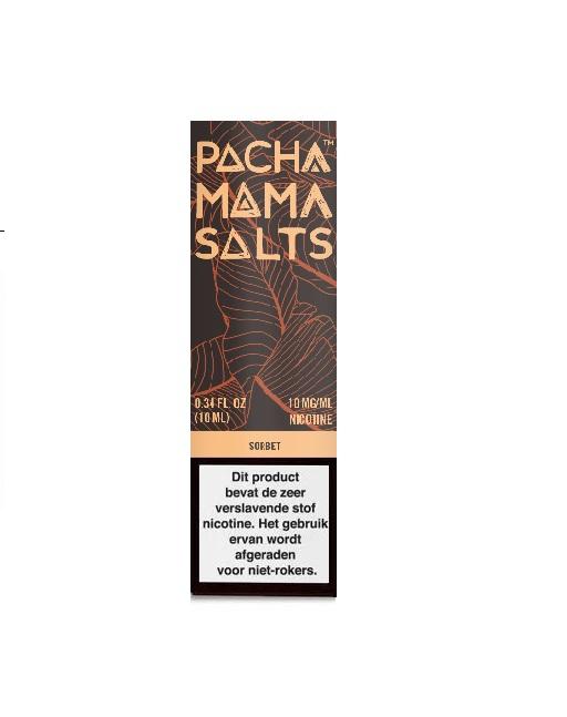 Pachamama Salts Sorbet is een frisse frambozen limonade. Deze Amerikaanse e-liquid heeft een 45%PG/55%VG verhouding. Hij wordt verkocht in 10ml flesjes. U kunt kiezen uit 10mg/ml en 20mg/ml Nicotine Salts.