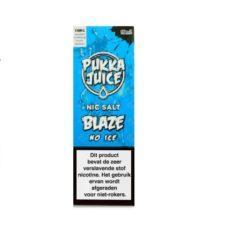 Pukka Juice Nic Salt Blaze No Ice is een mix van frambozen en blauwe bessen. Deze Nic-Salts e-liquid wordt geproduceerd in het VK. Verkrijgbaar in 10ml flesjes met 50pg/50vg en 20mg/ml nicotine.