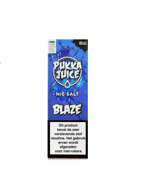 Pukka Juice Nic Salt Blaze is een mix van frambozen en blauwe bessen met koolada. Deze Nic-Salts e-liquid wordt geproduceerd in het VK. Verkrijgbaar in 10ml flesjes met 50pg/50vg en 20mg/ml nicotine.