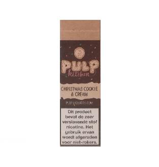 PULP Christmas Cookie and Cream is een koekje met een lichte chocolade room. De PG/VG verhouding is 40%/60%. Deze e-liquid wordt geproduceerd in Frankrijk.