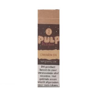 PULP Cinnamon Sin smaakt naar een kaneel kauwgom. De PG/VG verhouding is 40%/60%. Deze e-liquid wordt geproduceerd in Frankrijk.