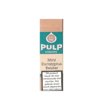 PULP Mint Eucalyptus Twister is een combinatie van kruizemunt en eucalyptus. De PG/VG verhouding is 70%/30%. Deze e-liquid wordt geproduceerd in Frankrijk.