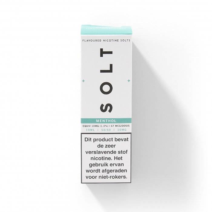 SOLT Menthol is een menthol smaak met een vleugje pepermunt.Deze Nic Salts e-liquid uit het Verenigd Koninkrijk heeft een verhouding van 50%PG/50%VG.