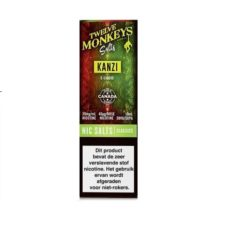 Twelve Monkeys Salts Kanzi is een mix van aardbeien, watermeloen en kiwi. Hij wordt gemaakt in Canada. U kunt deze 50PG/50VG e-liquid in 10ml flesjes bestellen. De nicotine sterkte is 20mg/ml Nicotine Salts.