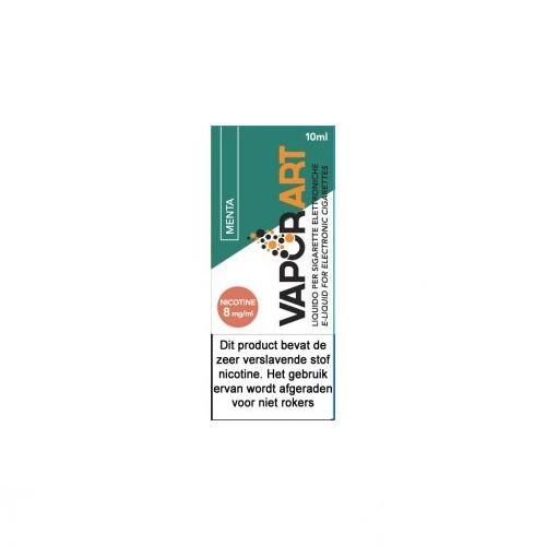 VaporArt Menta wordt gemaakt van extracten van pepermunt bladeren met een PG/VG verhouding van 50%PG /50%VG en wordt verkocht in 10ml flesjes.