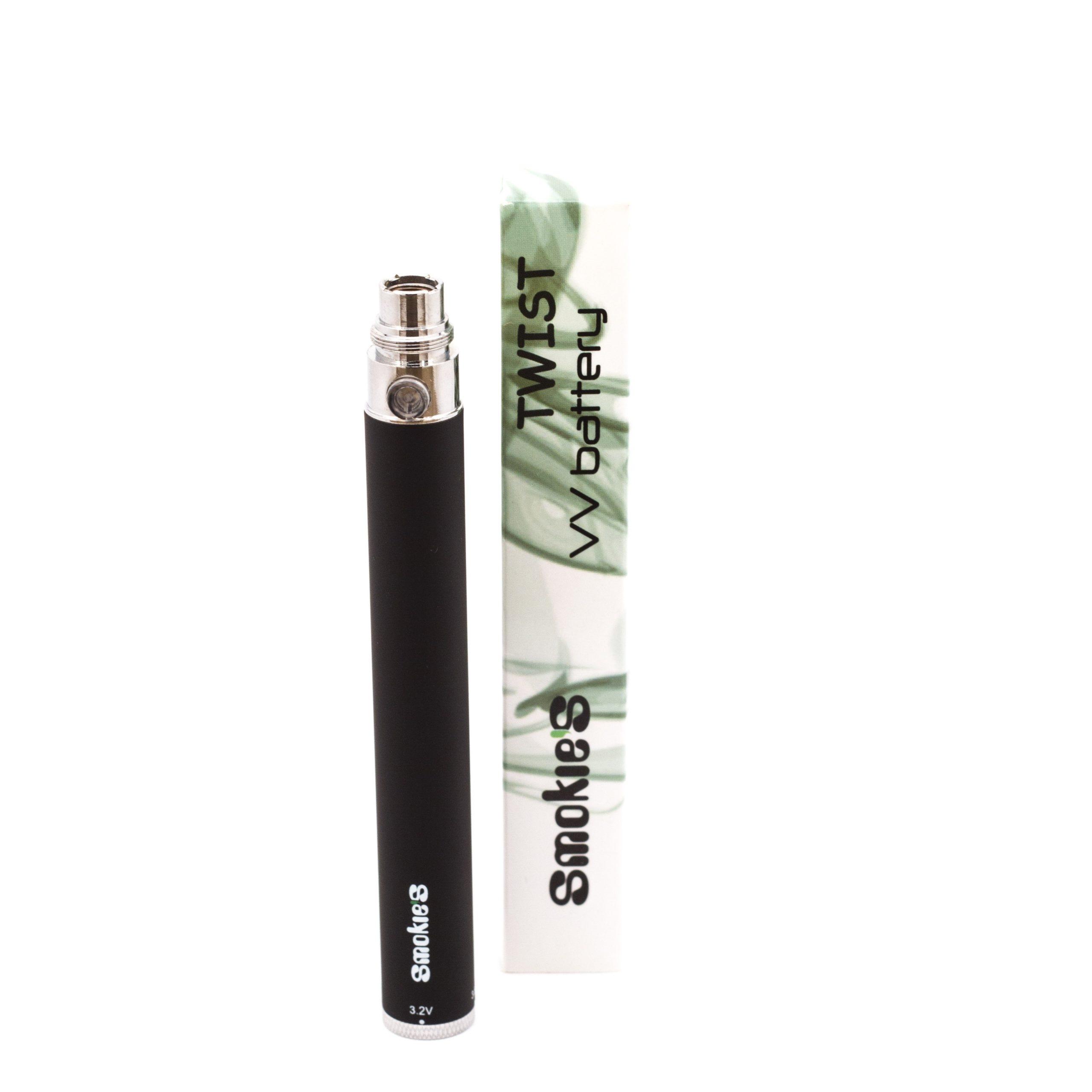 eGo Twist VV batterij van 1100 mAh met eGo en 510 aansluiting. Deze batterij heeft instelbare voltage en is beveiligd tegen kortsluiting en ontlading. Aan/uit doormiddel van 5x clicken