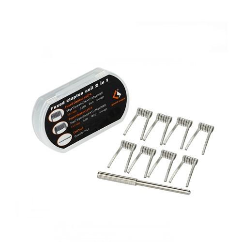De GeekVape 2 In 1 Coils bestaan uit een set van 8 GeekVape coils en coil jig. Deze coils zijn verkrijgbaar in verschillende soorten.
