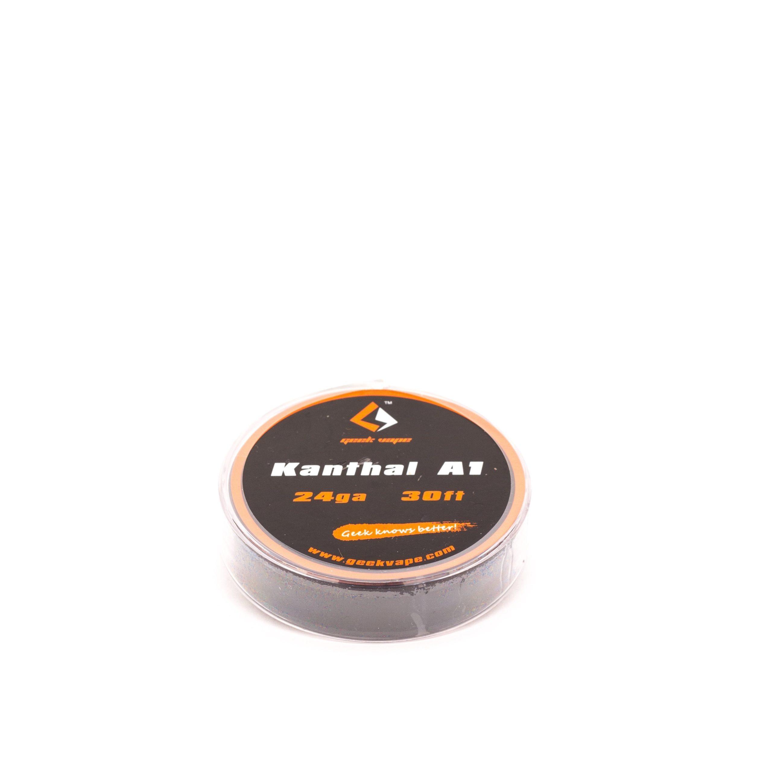 GeekVape Kanthal A1 wordt verkocht per rolletjes van 30ft (9 meter). Verkrijgbare soorten: 20ga, 22ga, 24ga, 26ga en 28ga