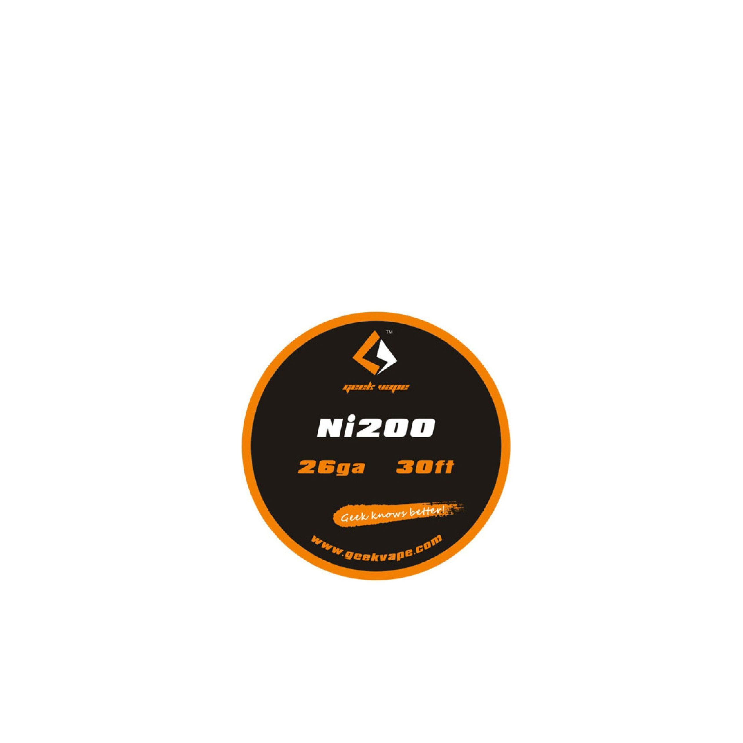 GeekVape Nickel (Ni200) draad voor Temperature Control. Verkocht per rolletjes van 30ft (9m). Deze draad kan niet gebruikt worden voor dampen op wattage!