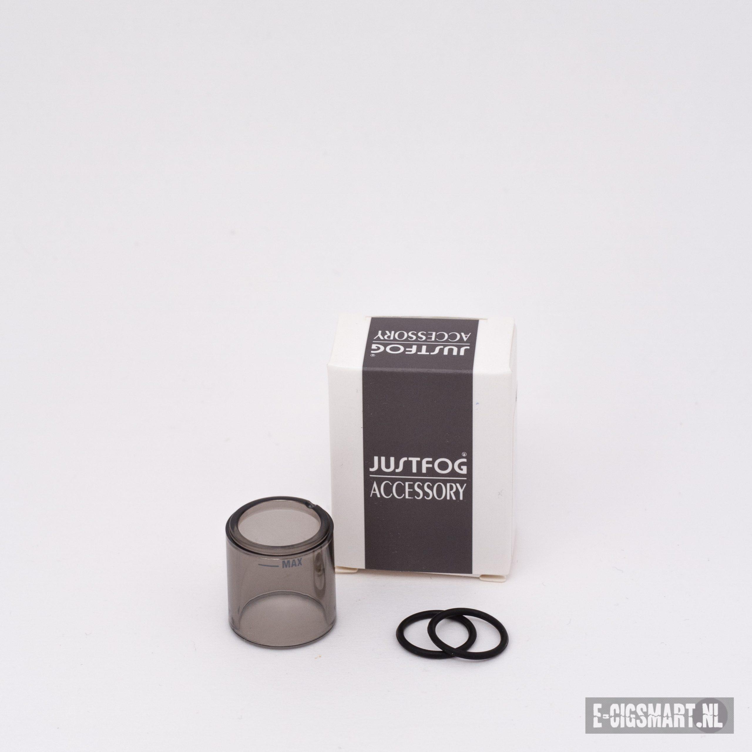 Glas voor uw JustFog FOG 1 starter set. De afmetingen van deze glas zijn 20mm diameter en 21mm hoogte (inclusief schroefdraad).