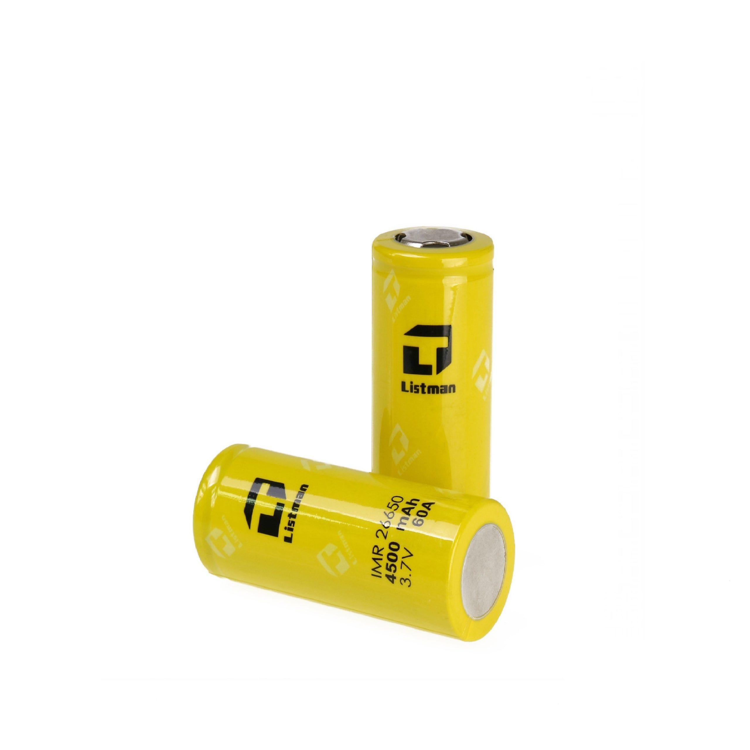 Flat top batterij met vermogen van 4500mAh en rating van 30A.