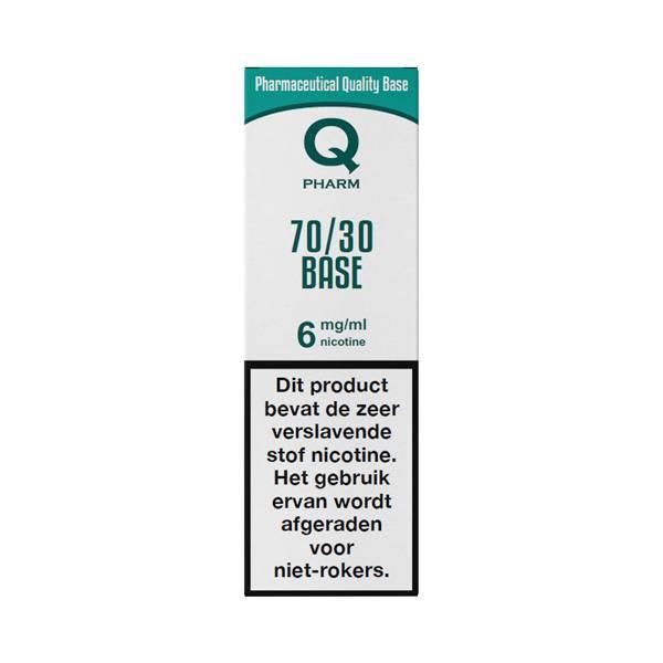 Qpharm is een base met of zonder nicotine uit Nederland. Deze base is verkrijgbaar met verschillende PG/VG verhoudingen en nicotine sterktes.