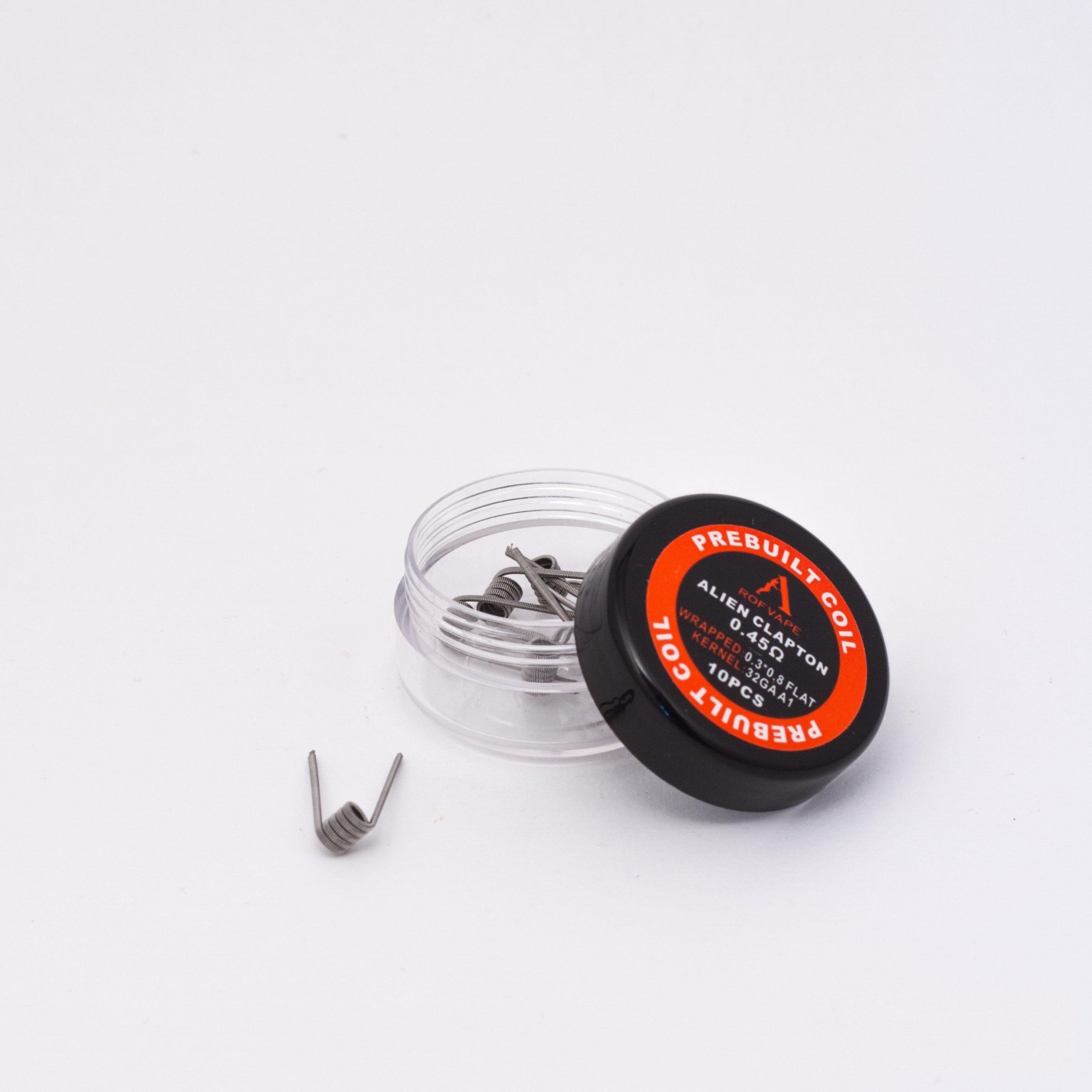 De RofVape Pre-built Coils zijn voorgedraaide coils voor uw rebuildable tank en dripper. De pre-built coils van RofVape worden verkocht per 10 stuks. Deze coils zijn gemaakt met kanthal draad en zijn verkrijgbaar in verschillende soorten.