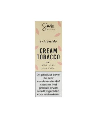 Simple Essentials Cream Tobacco is een romige e-liquid met tabak smaak. Deze 50%PG/50%VG e-liquid wordt geproduceerd in het VK.