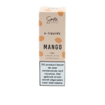 Simple Essentials Mango smaakt naar zoete mango. Deze e-liquid heeft een PG/VG verhouding van 50%PG/50%VG en wordt geproduceerd in het VK.