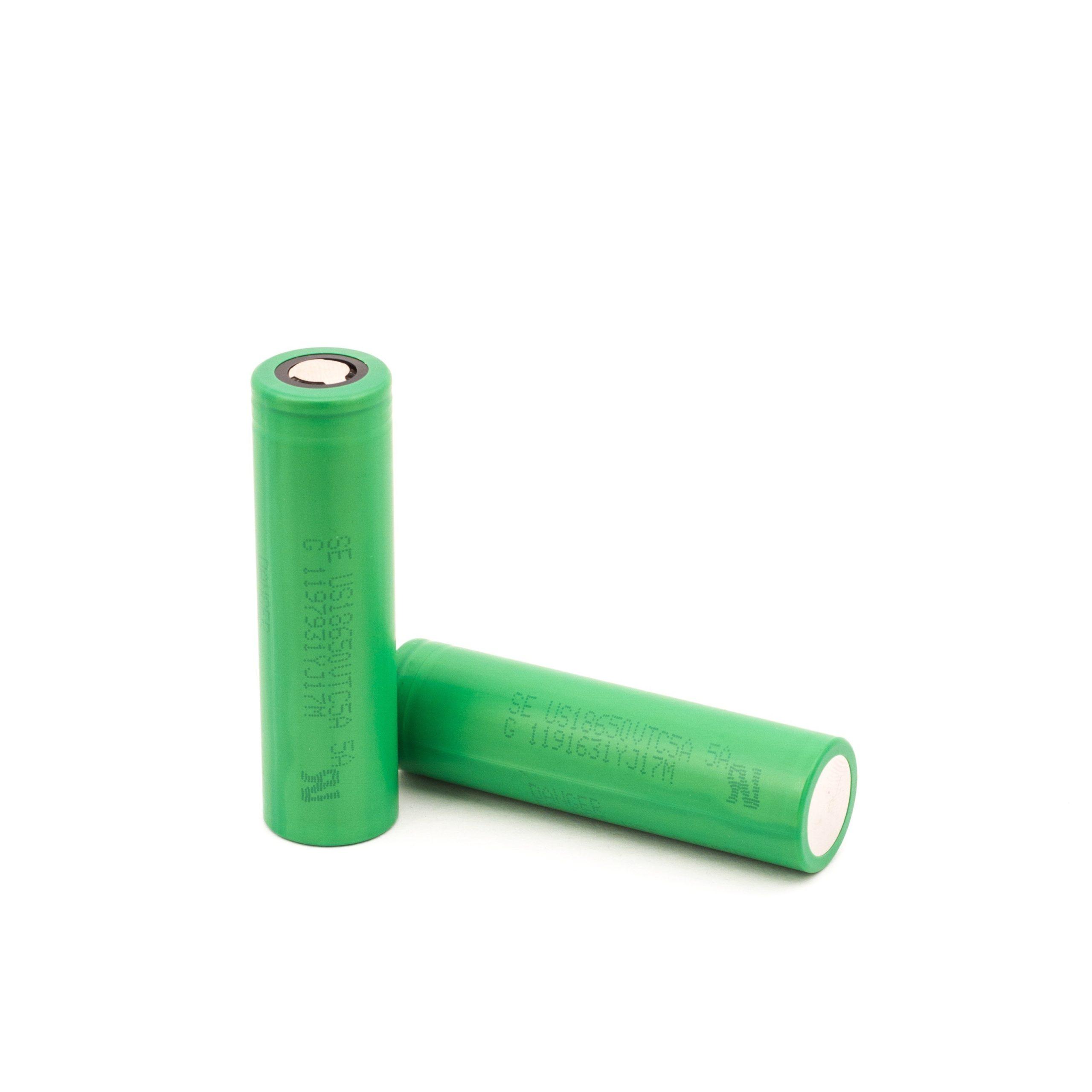 Flat top batterij met vermogen van 2600mAh en rating van 35A.