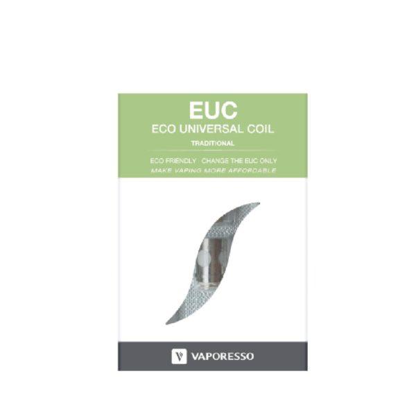 De Vaporesso Eco EUC coils zijn kanthal coils voor de Vaporesso Veco verdamper. U kunt deze coils bestellen met een een weerstand van 0.3ohm of 0.5ohm. De Vaporesso Eco EUC coils worden verkocht per 5 stuks.