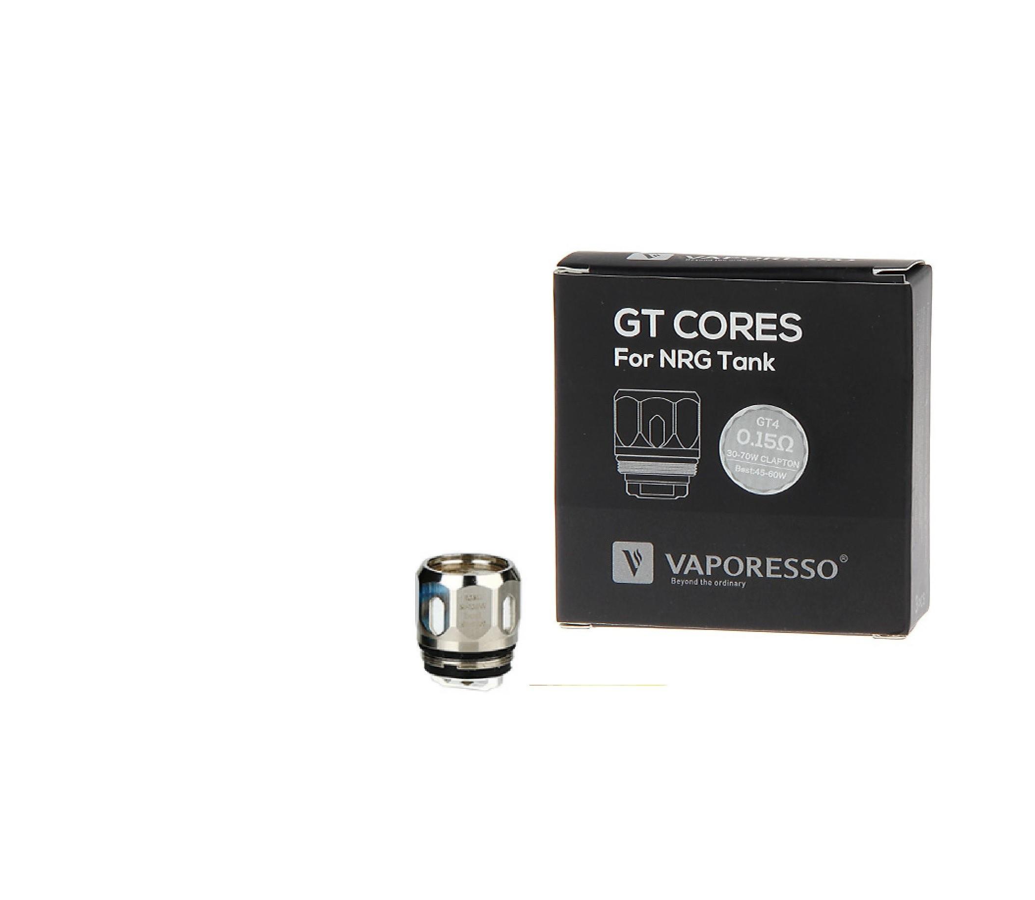 Vaporesso NRG GT Core coils voor de Vaporesso NRG verdamper. U kunt kiezen uit drie weerstanden: 0.15ohm, 0.4ohm en 0.5ohm. Verpakt per 3 stuks.