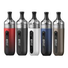De V.Suit is een pod kit van het merk VooPoo. Deze starter-set heeft een batterij met 1200mAh. U kunt uw eigen e-liquid gebruiken. Geleverd met twee PnP coils en oplaadkabel.